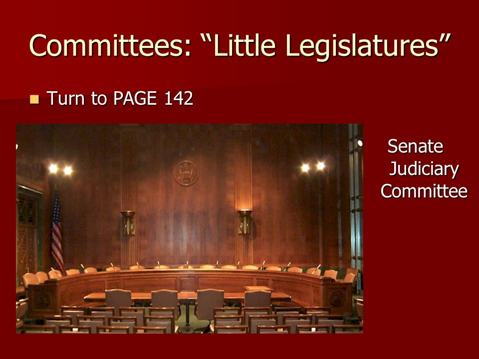 Committees: Little Legislatures