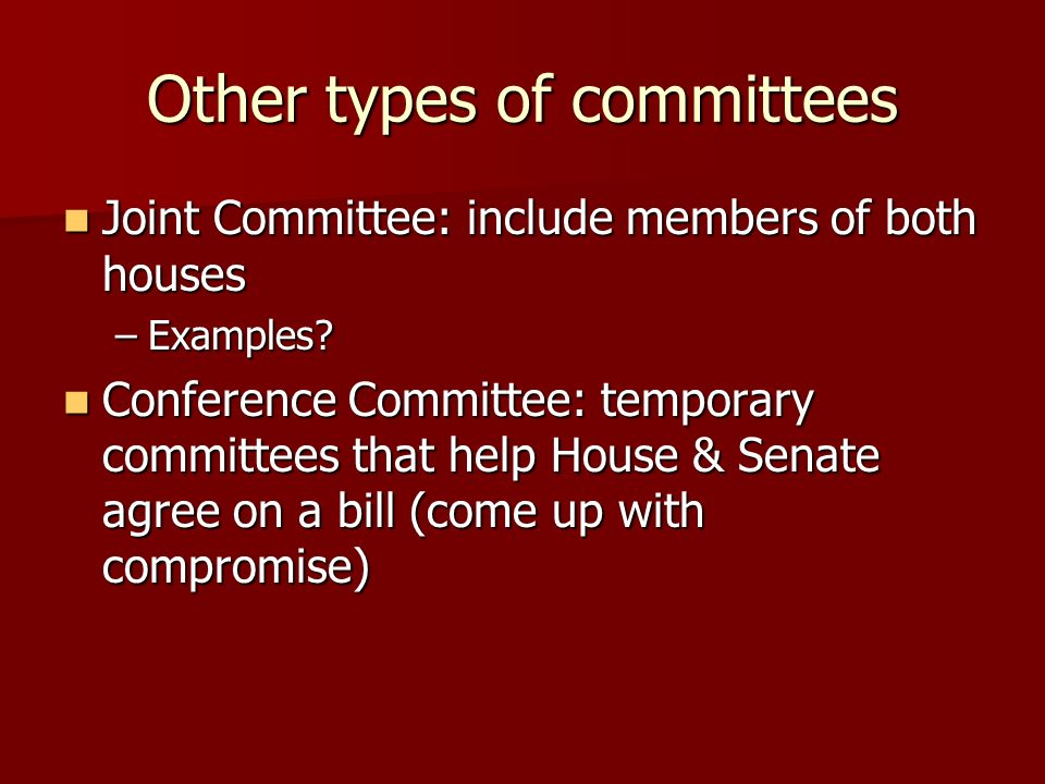 Other types of committees