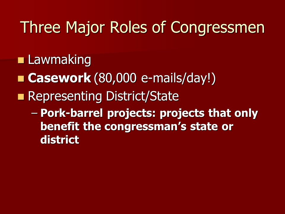 Three Major Roles of Congressmen