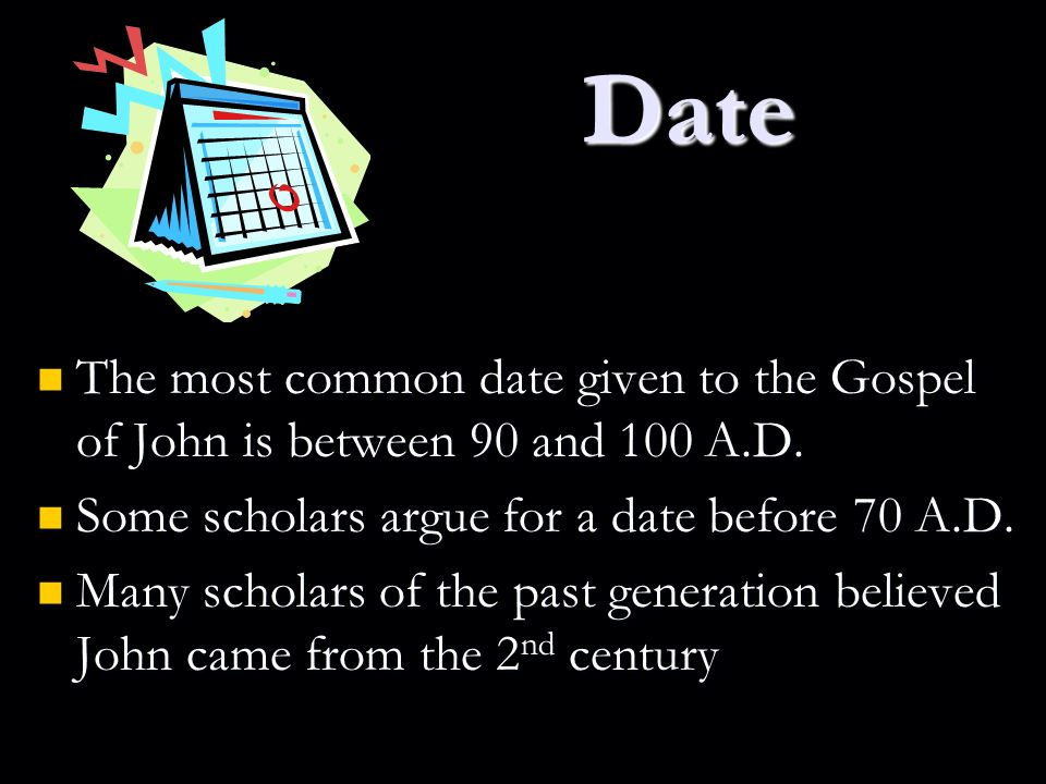 Dating of john's gospel