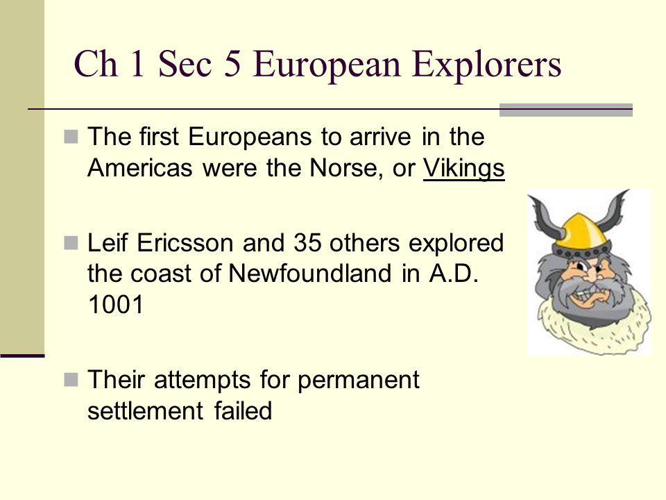 Ch 1 Sec 5 European Explorers