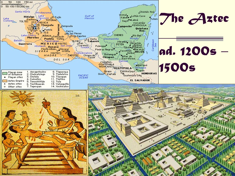 The Aztec ad. 1200s – 1500s