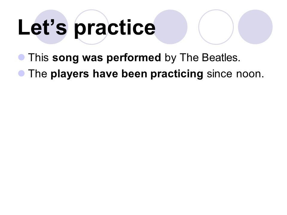 Let's practice This song was performed by The Beatles.