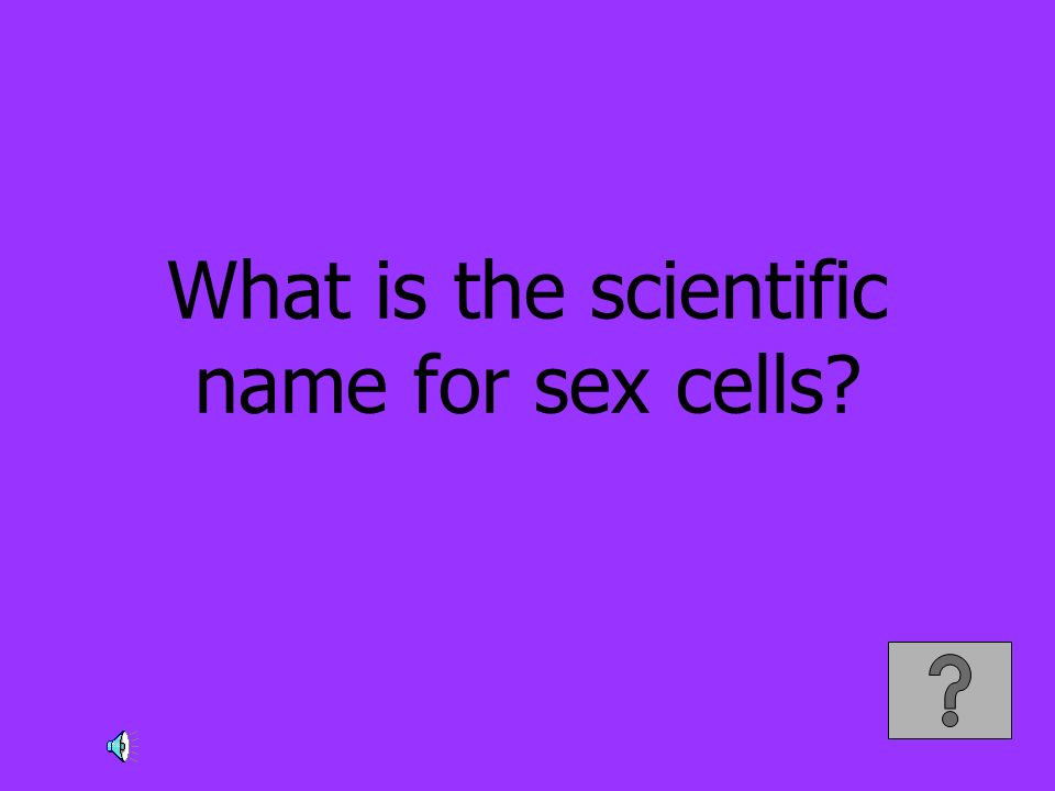 What is the scientific name for sex cells