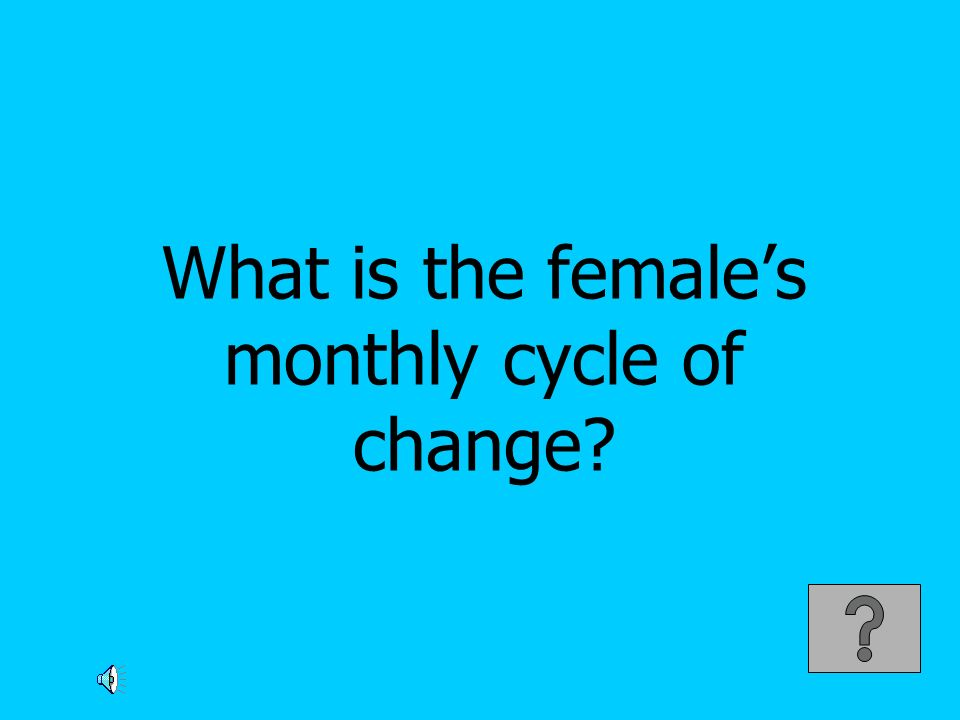 What is the female's monthly cycle of change