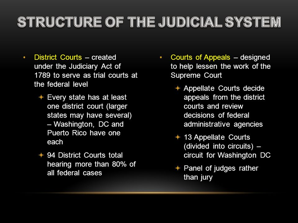 STRUCTURE OF THE JUDICIAL SYSTEM