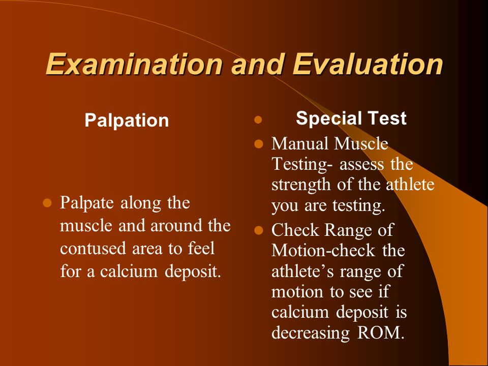 Examination and Evaluation
