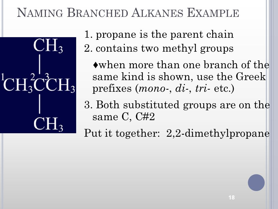 Naming Branched Alkanes Example