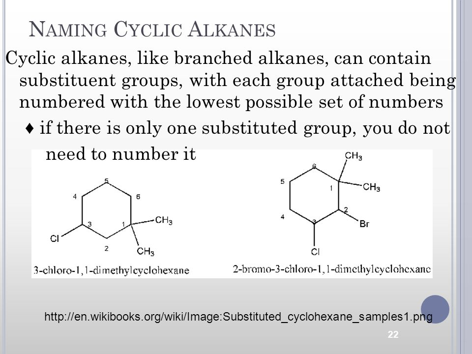 Naming Cyclic Alkanes