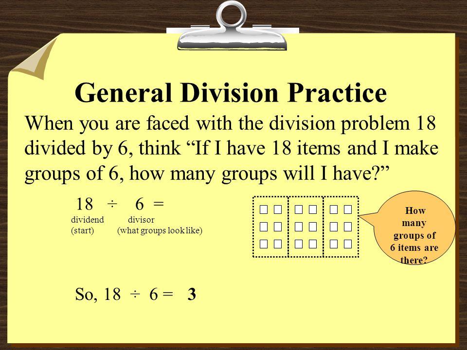 General Division Practice