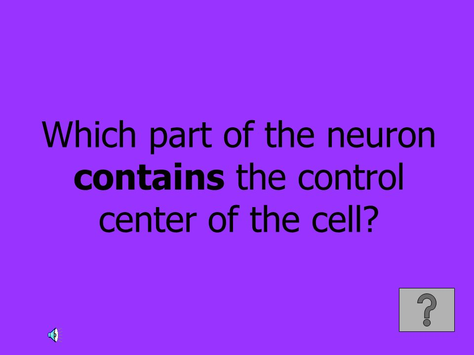 Which part of the neuron contains the control center of the cell