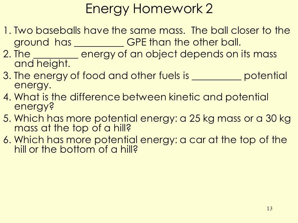 Energy Homework 2