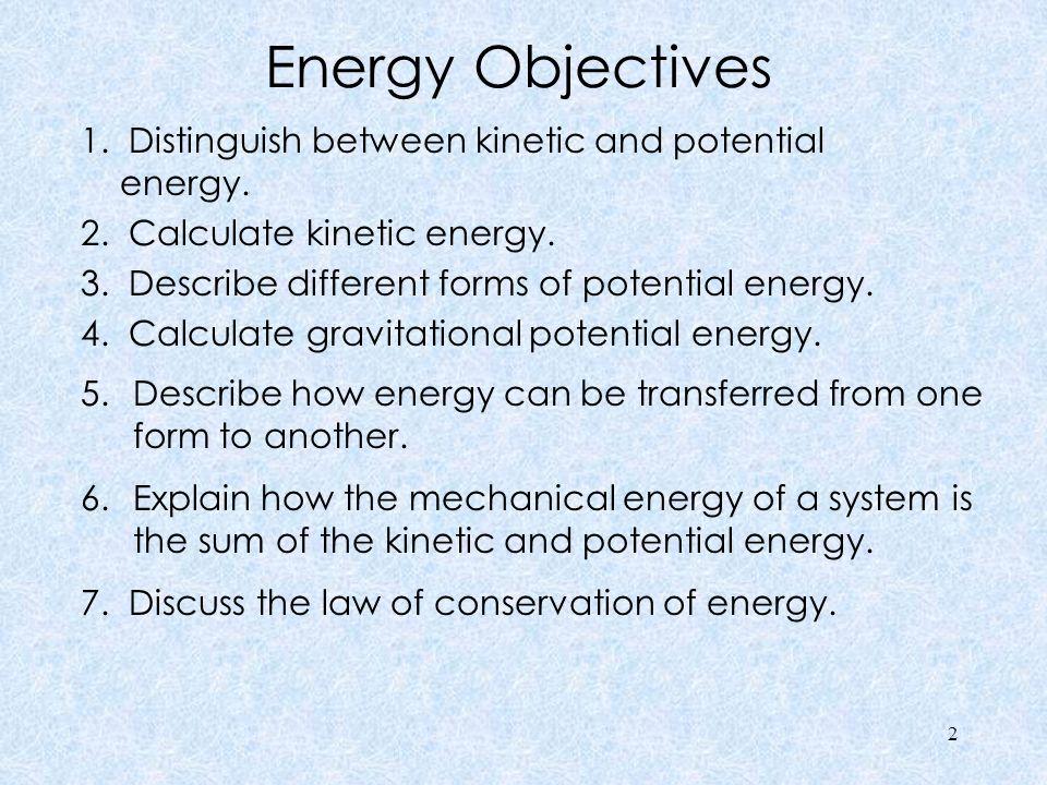 Energy Objectives