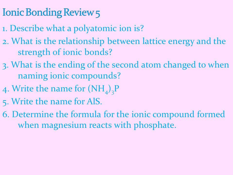 Ionic Bonding Review 5