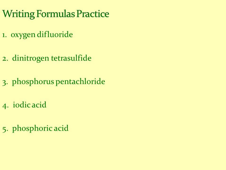 Writing Formulas Practice