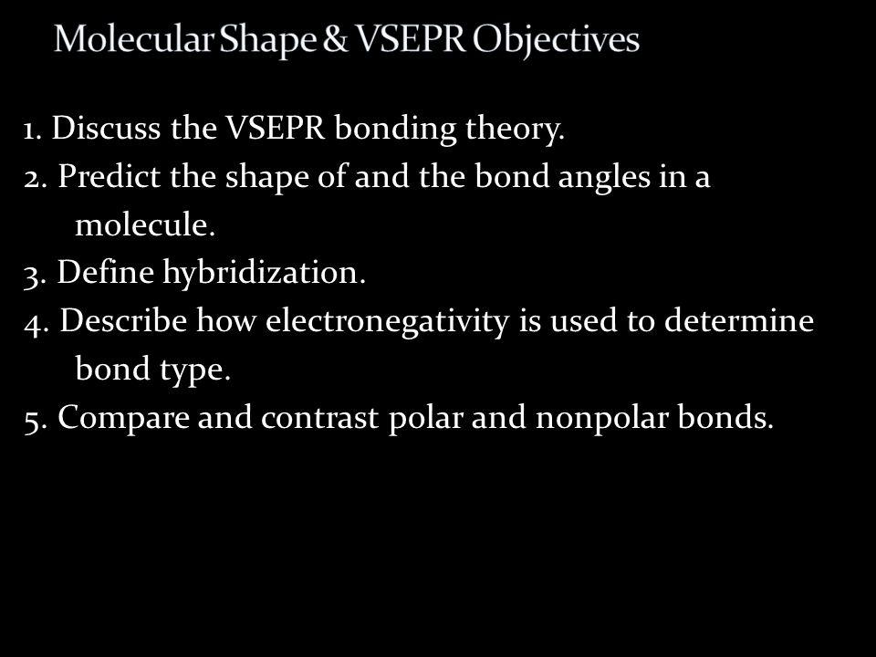 Molecular Shape & VSEPR Objectives