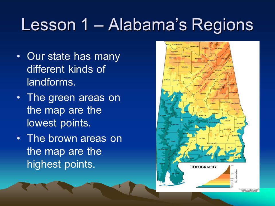 Lesson 1 – Alabama's Regions