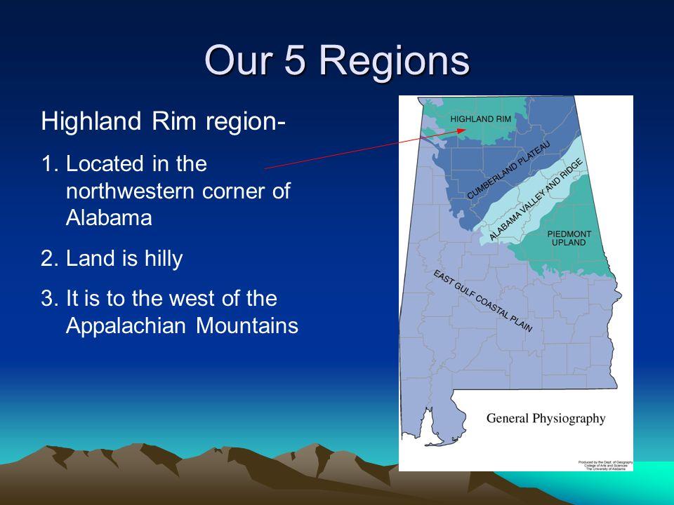 Our 5 Regions Highland Rim region-