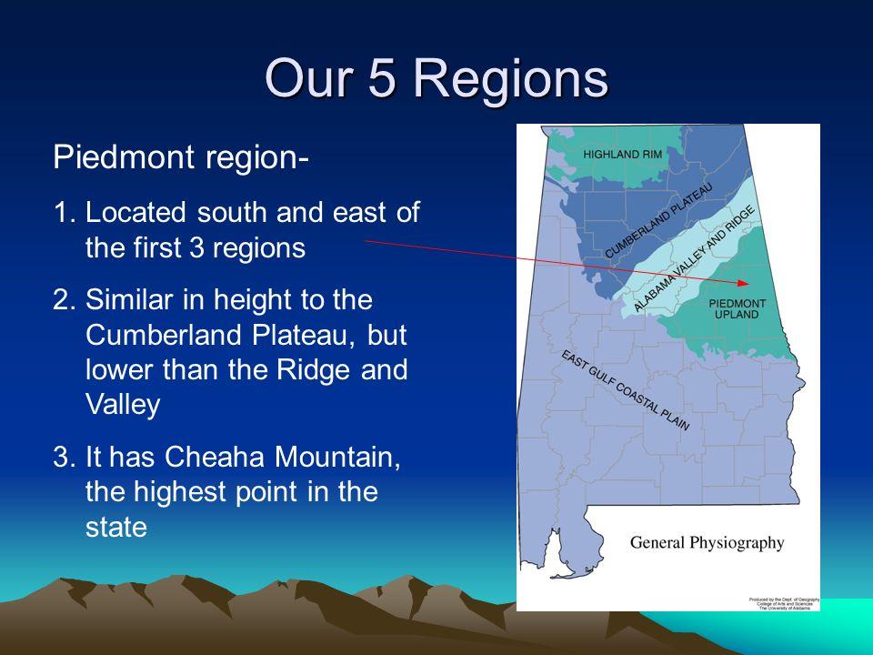 Our 5 Regions Piedmont region-