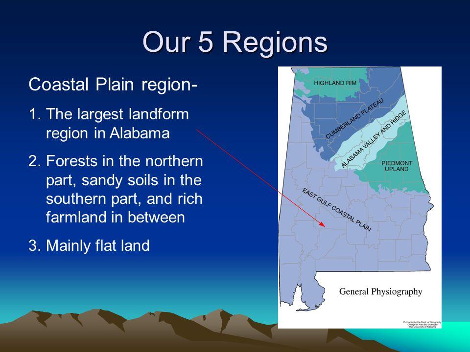Our 5 Regions Coastal Plain region-