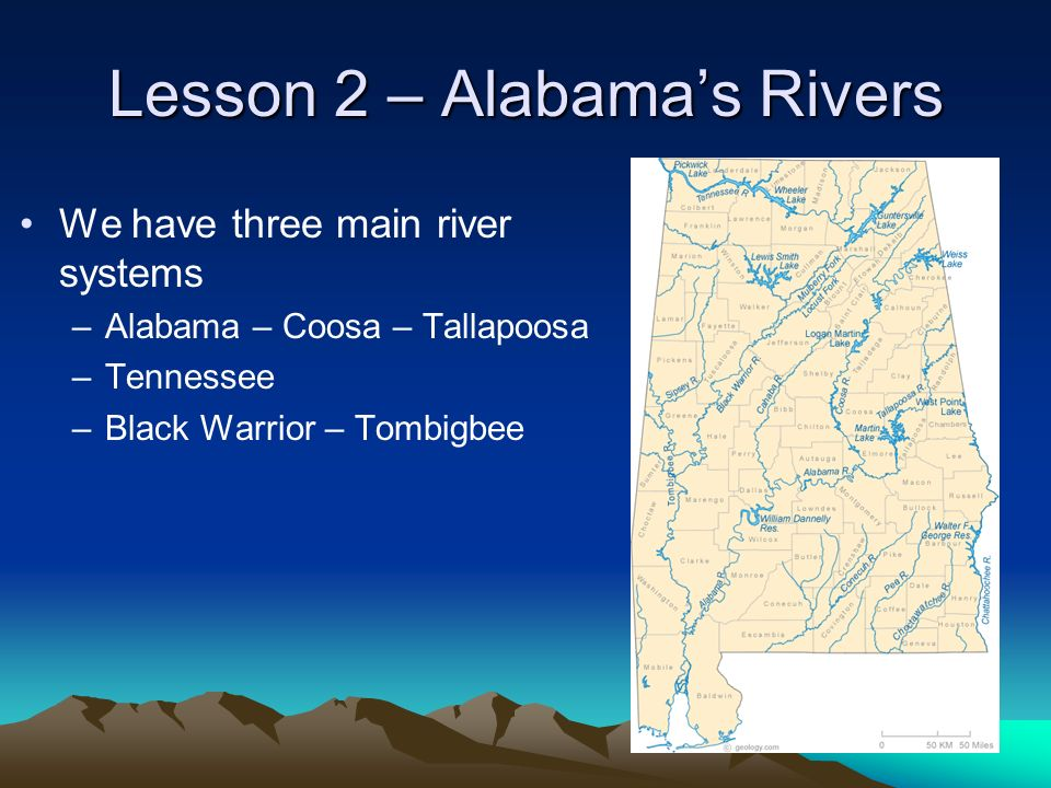 Lesson 2 – Alabama's Rivers