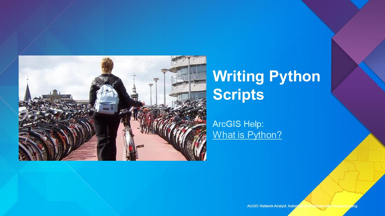 Writing advanced geoprocessing scripts using python to run