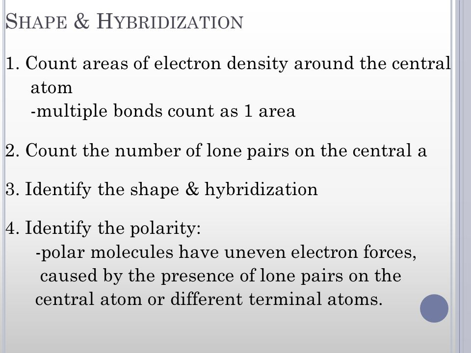 Shape & Hybridization