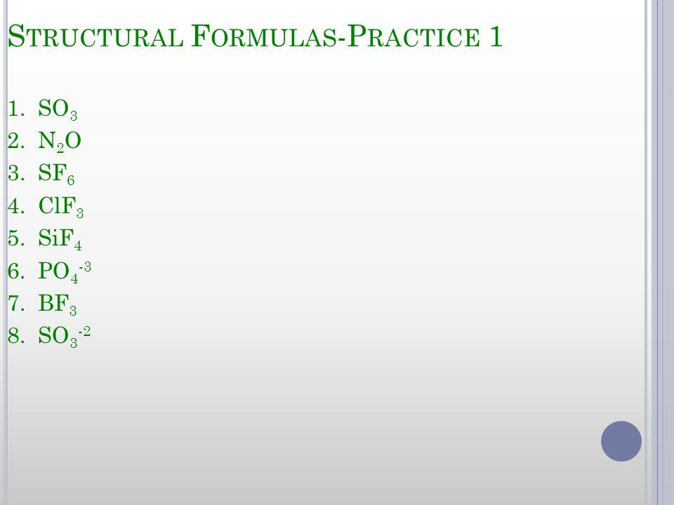 Structural Formulas-Practice 1