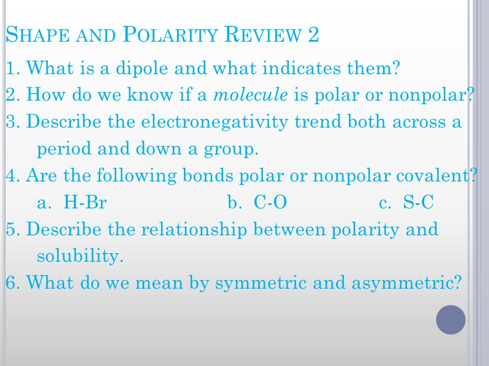 Shape and Polarity Review 2
