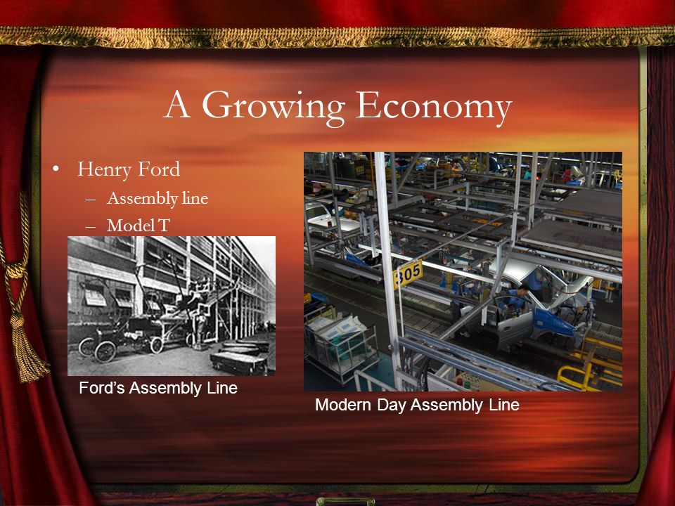 A Growing Economy Henry Ford Assembly line Model T