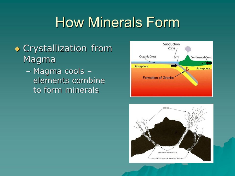 How Minerals Form Crystallization from Magma