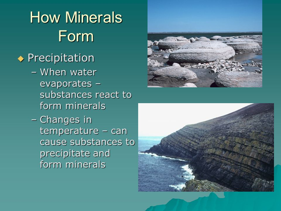 How Minerals Form Precipitation