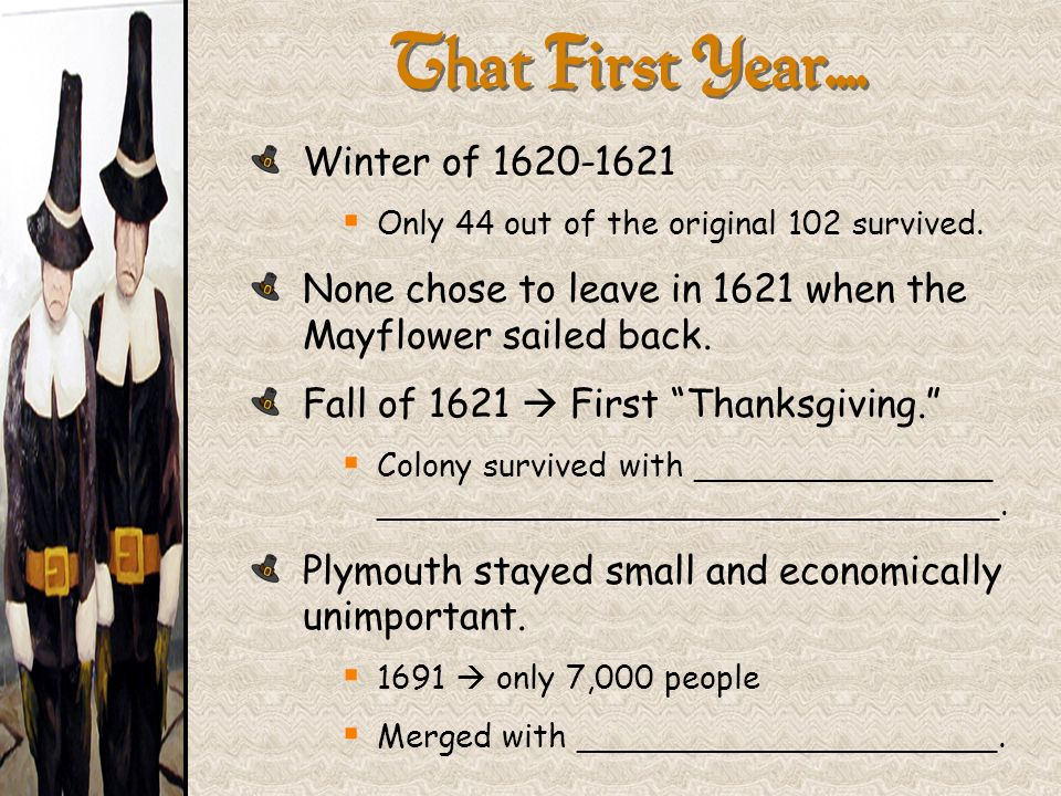 That First Year…. Winter of 1620-1621