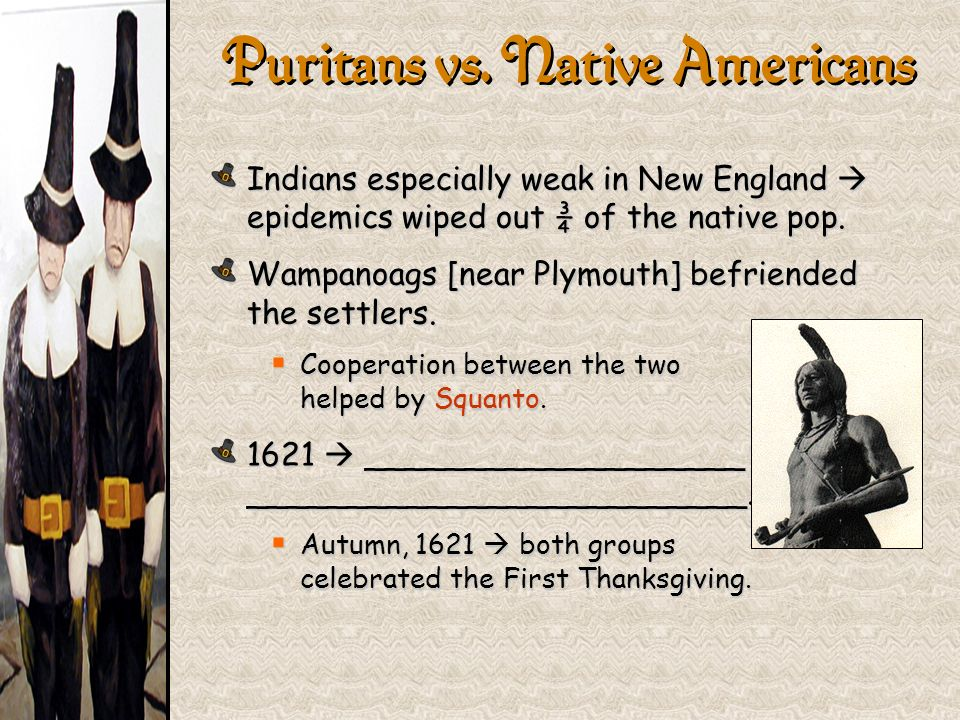 Puritans vs. Native Americans