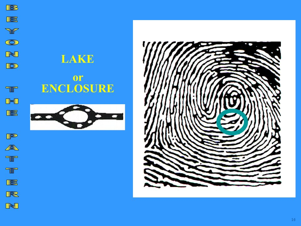LAKE or ENCLOSURE BEYOND THE PATTERN 16