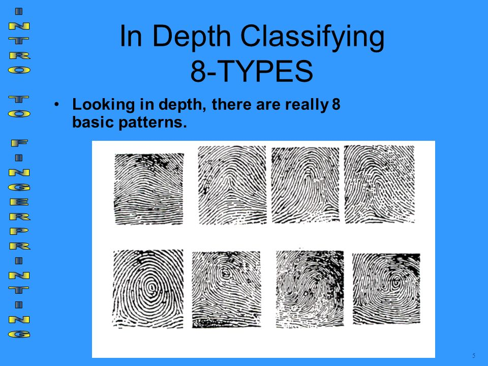 In Depth Classifying 8-TYPES