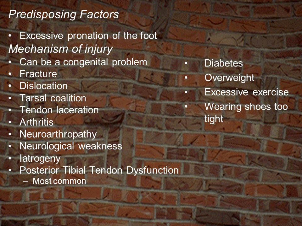 Predisposing Factors Mechanism of injury