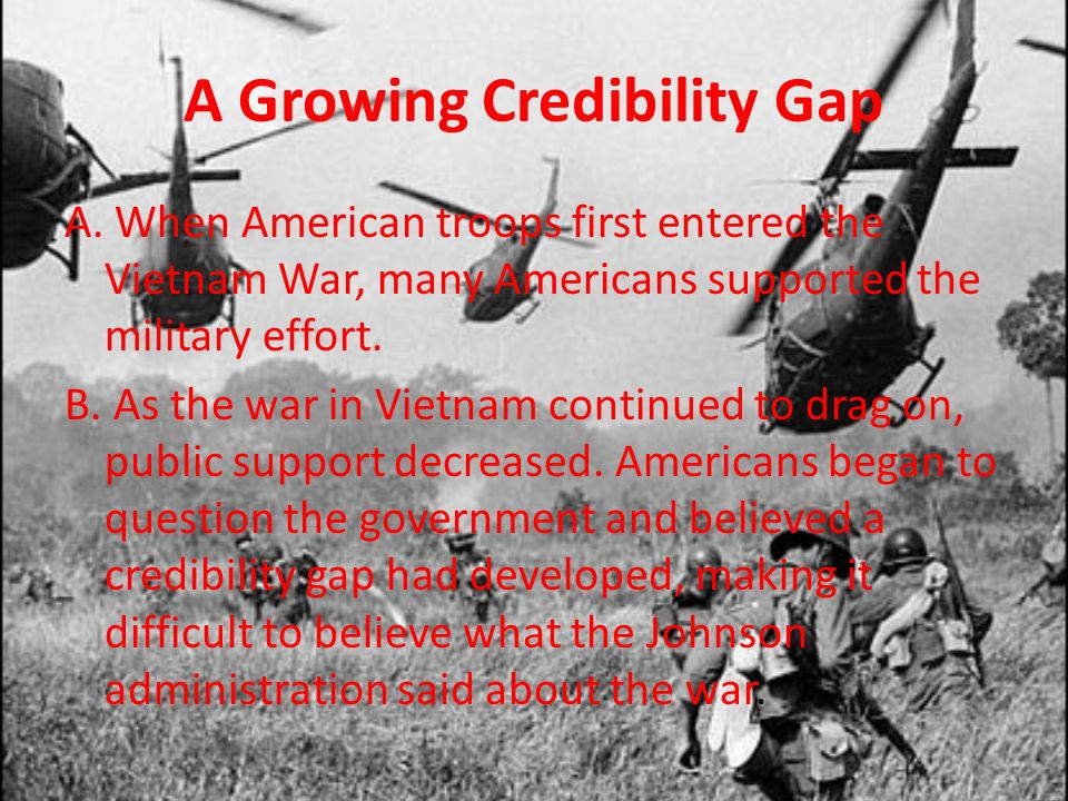 A Growing Credibility Gap