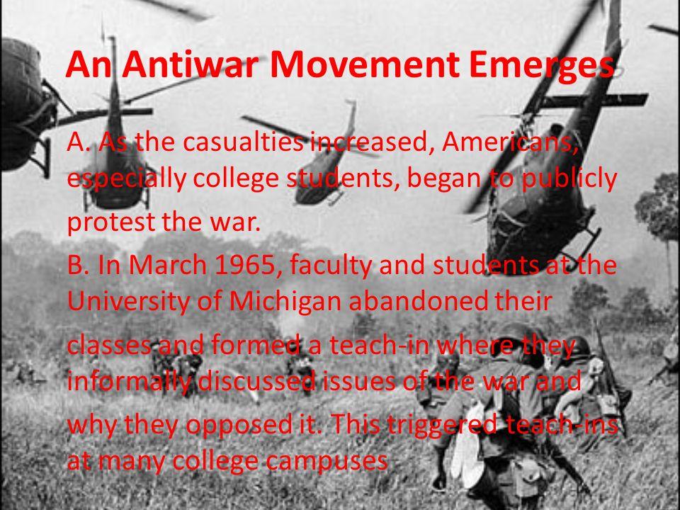 An Antiwar Movement Emerges