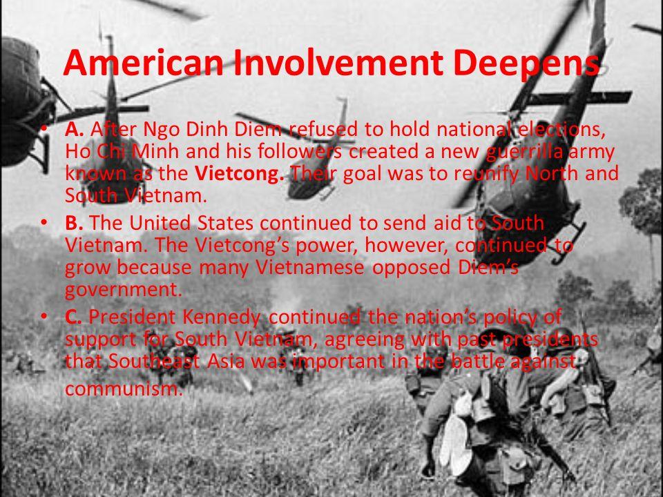 American Involvement Deepens