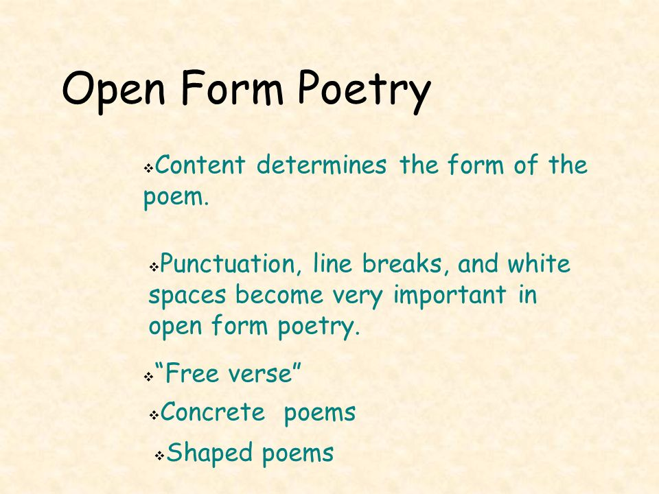 Introduction Poetry is written in closed or open form. - ppt video ...