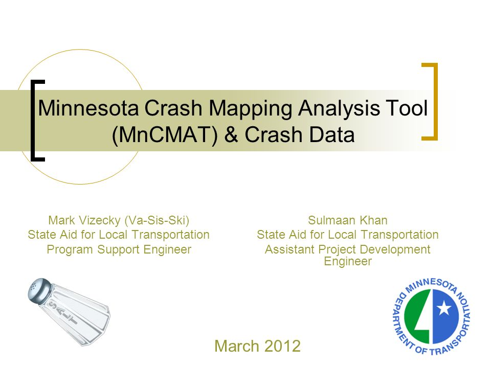 Minnesota Crash Mapping Analysis Tool (MnCMAT) & Crash Data