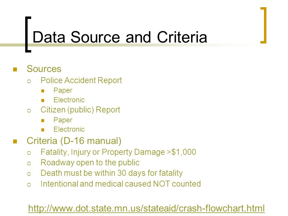 Data Source and Criteria