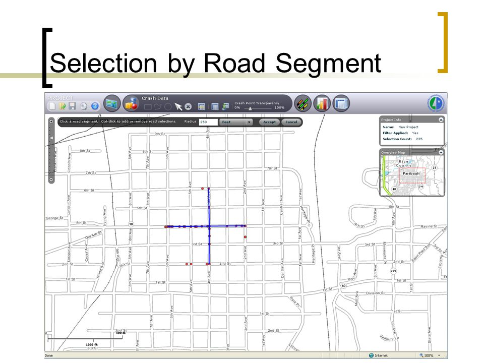Selection by Road Segment