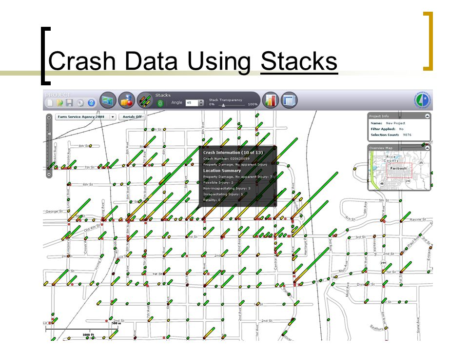 Crash Data Using Stacks