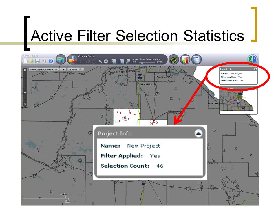 Active Filter Selection Statistics