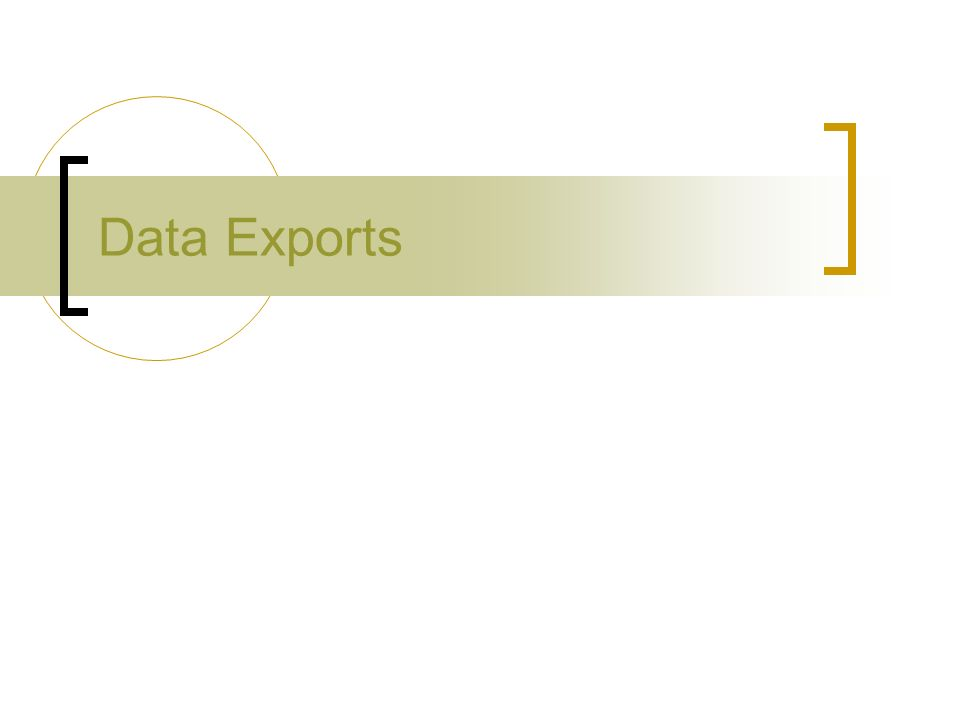 Data Exports