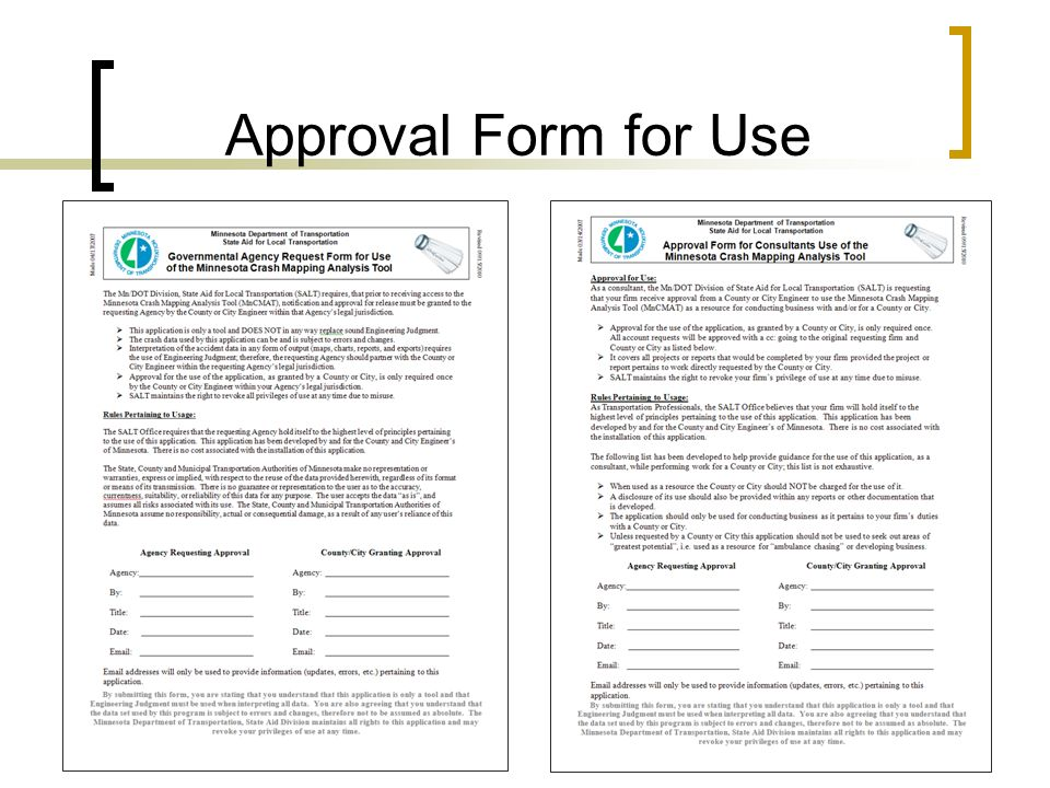 Approval Form for Use