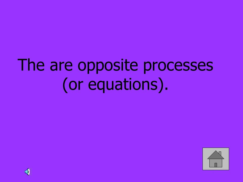 The are opposite processes (or equations).