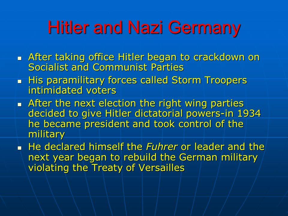 Hitler and Nazi Germany